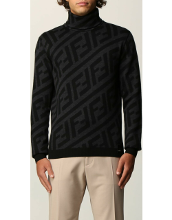 Fendi polo neck in wool knit with FF motif