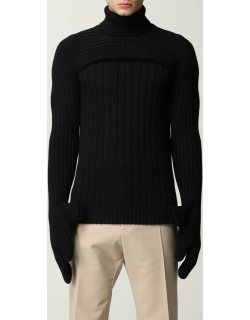 Fendi polo neck in ribbed wool knit