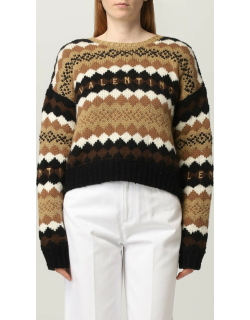 Valentino wool jumper with embroidered logo