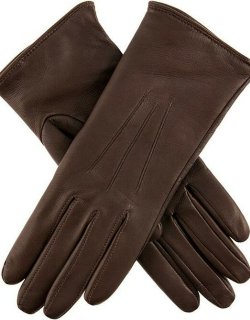 Dents Women's Lambswool Lined Leather Gloves In Mocca