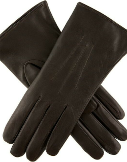 Dents Women's Fur Lined Leather Gloves In Mocca