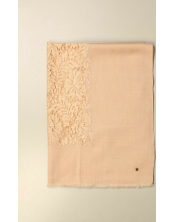 Twinset scarf with lace inserts