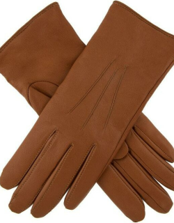 Dents Women's Lambswool Lined Leather Gloves In Cognac
