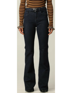 Pinko 5pocket jeans with belt and Love Birds buckle