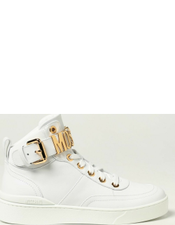 Moschino Couture trainers in leather with metallic logo