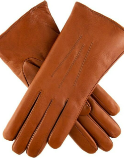 Dents Women's Fur Lined Leather Gloves In Tan