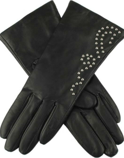 Dents Women's Cashmere Lined Studded Leather Gloves In Black