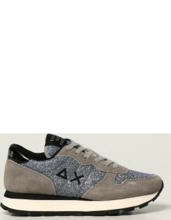 Sun 68 trainers in suede and glitter