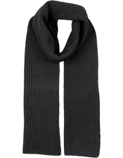 Dents Men's Lambswool Blend Knitted Scarf In Black