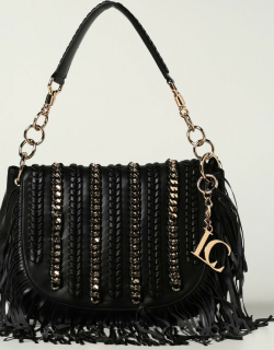 La Carrie bag in synthetic leather with chains