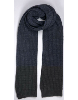 Dents Men's Wool Blend Marl Knitted Scarf In Navy/black