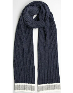 Dents Men's Knitted Scarf With Stripe Detail In Navy/grey
