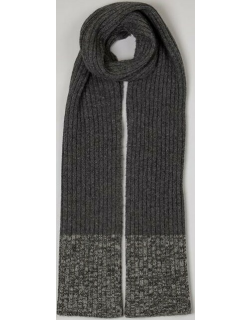 Dents Men's Wool Blend Rib Knit Scarf In Grey/charcoal