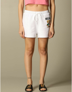 Moschino Couture cotton jogging shorts with teddy logo