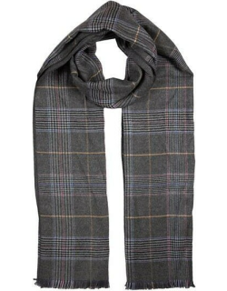 Dents Men's Classic Check Scarf In Charcoal