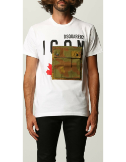 Dsquared2 Tshirt with camouflage pocket