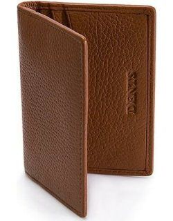 Dents Pebble Grain Leather Card Holder With Rfid Blocking Protection In Cognac
