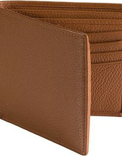 Dents Pebble Grain Leather Slim Billfold Wallet With Rfid Blocking Protection In Cognac