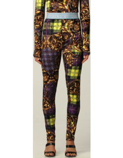 Versace Jeans Couture leggings with Tartan Baroque print
