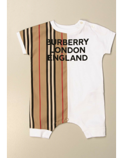 Burberry jumpsuit in vintage striped cotton