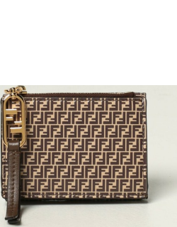 Fendi leather wallet with all over logo