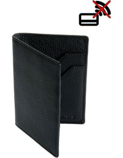 Dents Pebble Grain Leather Passport Holder With Rfid Blocking Protection In Black