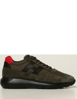 Hogan trainers in suede and nylon