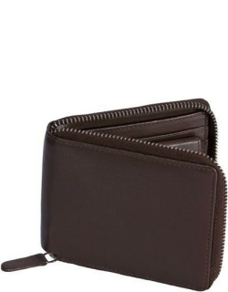 Dents Smooth Leather Zip Round Wallet With Rfid Blocking Protection In Eng Tan