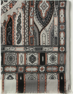 Etro scarf in silk and paisley wool
