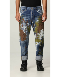 Combat Dsquared2 jeans with painting