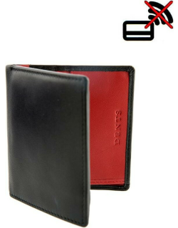 Dents Hairsheep Gloving Leather Small Wallet With Rfid Blocking Protection In Black/berry