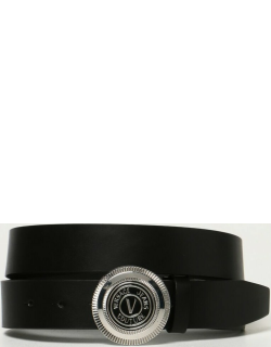 Versace Jeans Couture leather belt with VEmblem logo
