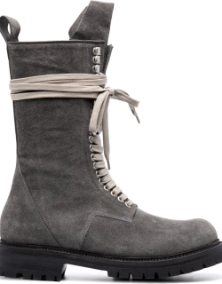 Rick Owens DRKSHDW lace-up leather boots