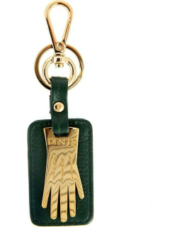 Dents Dents Glove Keyring With Gift Box In Bottle Green/gold