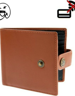 Dents Two Colour Leather Billfold Wallet In Highway Tan/black