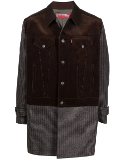 Junya Watanabe Man X Levi's contrast button-up single-breasted coat