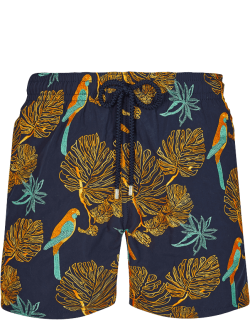 Men Swim Trunks Embroidered 1998 Les Perroquets - Limited Edition - Swimwear - Mistral - Blue