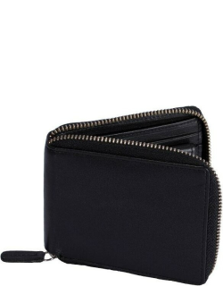 Dents Smooth Leather Zip Round Wallet With Rfid Blocking Protection In Black