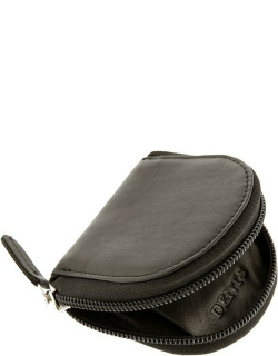 Dents Smooth Leather Coin Purse In Chocolate