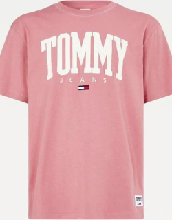 Tommy Jeans Collegiate T Shirt - Moss Rose