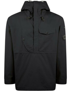 CP Company Gabardine Hooded Jacket - Total Ecl 888