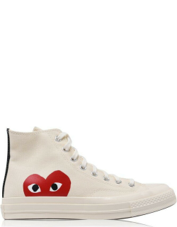 Comme Des Garcons Play Chuck Logo High Top Trainers - Beige 2