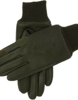 Dents Water Resistant Leather Shooting Gloves In Olive