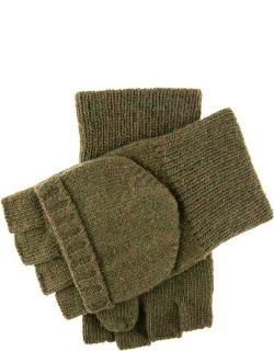 Dents Knitted Cap Mitt Shooting Gloves In Olive