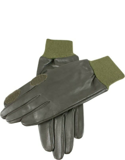 Dents Leather Shooting Gloves In Olive