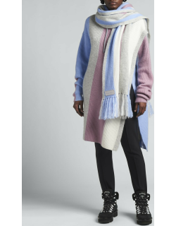 Striped Cashmere Hooded Poncho