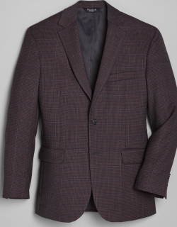 JoS. A. Bank Men's Traveler Collection Tailored Fit Houndstooth Sportcoat, Navy, 46 Regular