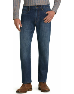 JoS. A. Bank Men's Reserve Collection Traditional Fit Jeans - Big & Tall, Med Wash, 46x29