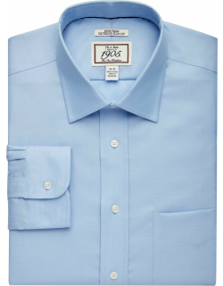 JoS. A. Bank Men's 1905 Collection Extreme Slim Fit Spread Collar Dress Shirt Clearance, Blue, 16 1/2x35