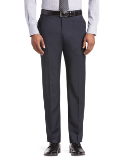 JoS. A. Bank Men's Reserve Collection Tailored Fit Flat Front Suit Separate Pants Clearance, Navy, 33 Regular